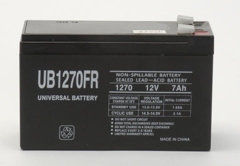 Universal Battery UB1270FR with F2 tabs