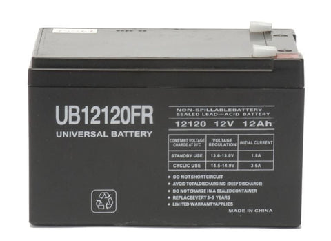 Universal Battery UB12120FR with F2 tabs