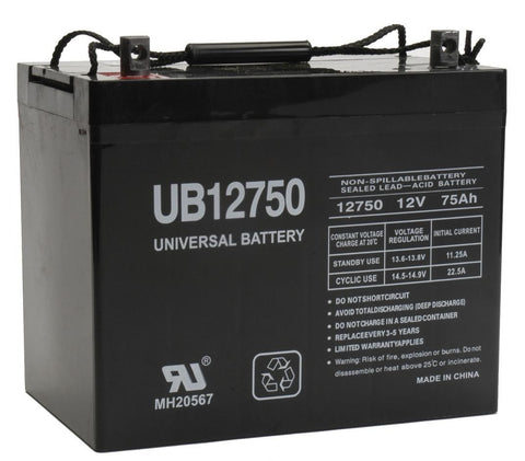 Universal Battery UB12750 (Group 24) with Z1 posts