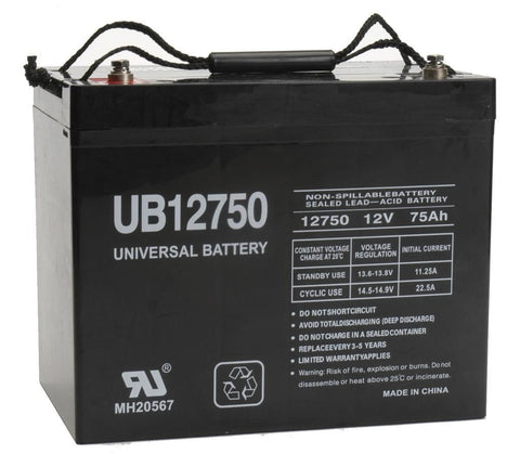 Universal Battery UB12750 (Group 24) with I4 posts