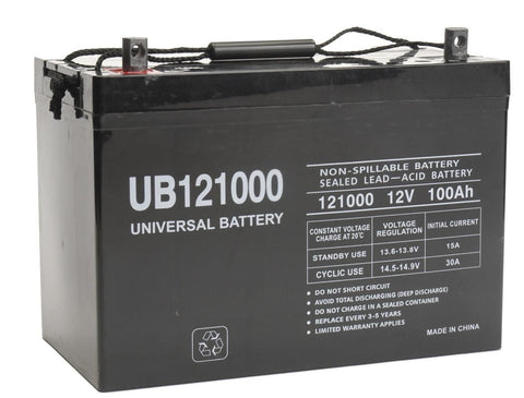 Universal Battery UB121000 (Group 27) with Z1 Terminals