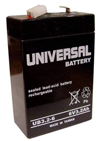 Universal Battery UB632 with F1 tabs