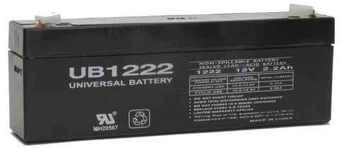 Universal Battery UB1222 with F1 tabs