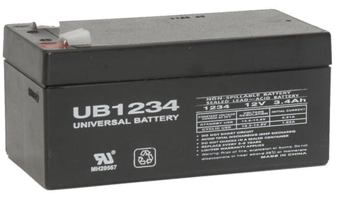 Universal Battery UB1234 with F1 tabs