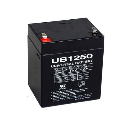 Universal Battery UB1250 with F2 tabs
