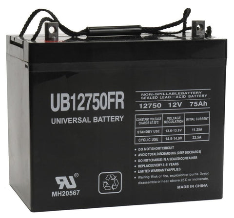 Universal Battery UB12750FR with Z1 posts