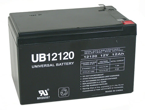 Universal Battery UB12120 with F1 tabs