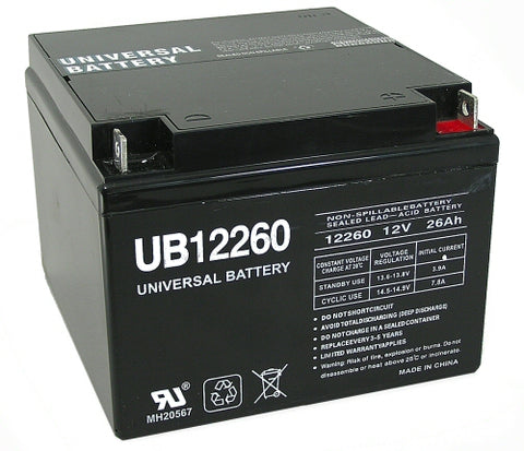 Universal Battery UB12260 with T3 Nut and Bolt