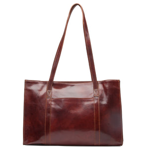 I Medici 2425 Women Italian Burgundy Leather Briefcase Style