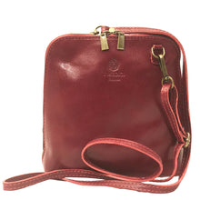 I Medici 298 Italian Red leather messenger bags