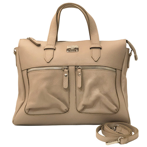 Handbags Italian Leather with two Zipped out side Pocket I Medici D9