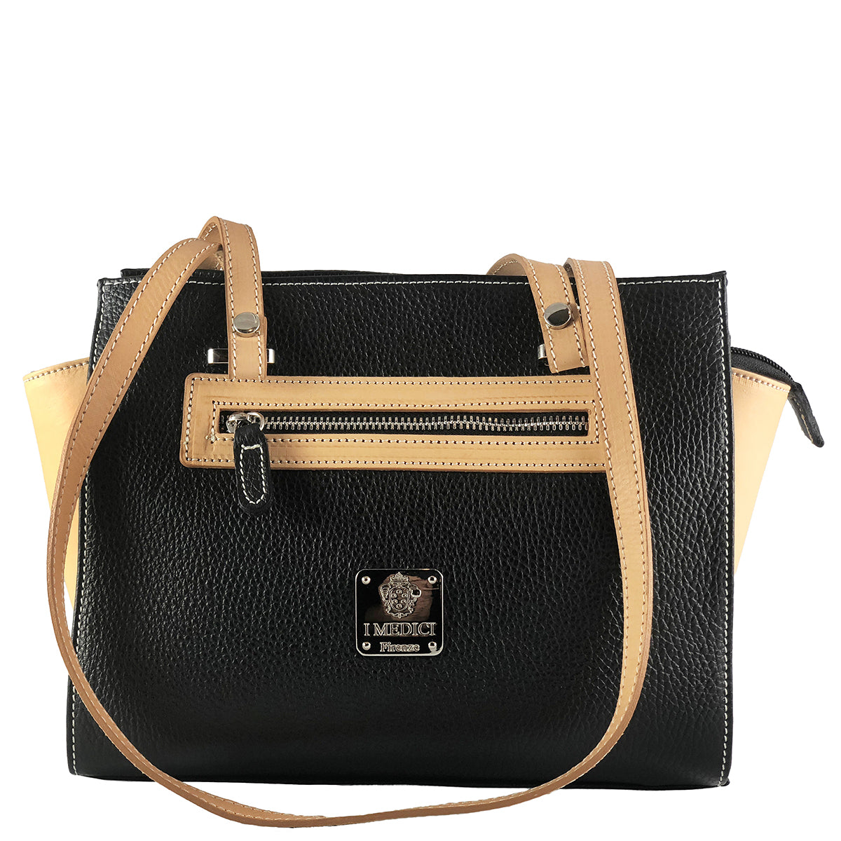 I Medici 806 Italian Leather Top Handle Bag