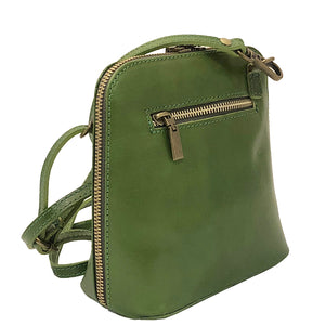 I Medici 298M Italian Green Leather Messenger Bag