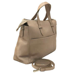 I Medici D9 ItalianCream  Leather Top Handle Tote Handbag