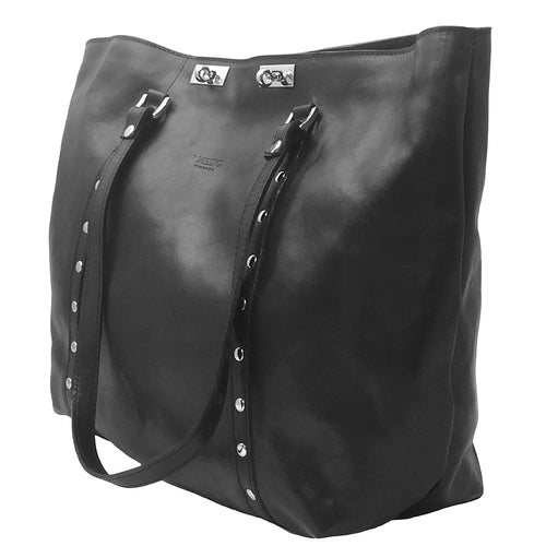 Handbags Italian Black Leather I Medici 2880