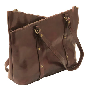 I Medici 2890 V Italian Leather Hobo Handbag