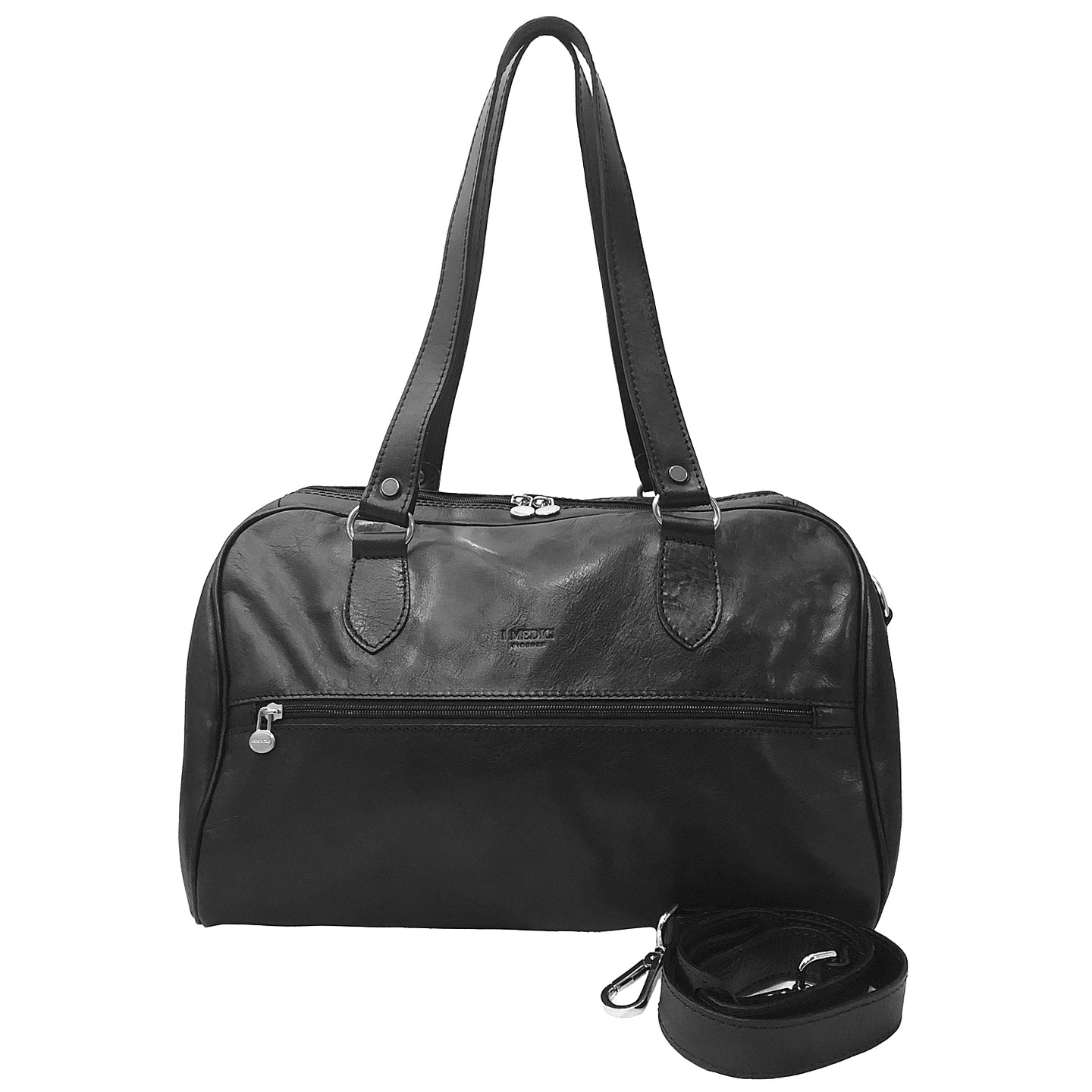 I Medici Leather Duffel Italian Handbag