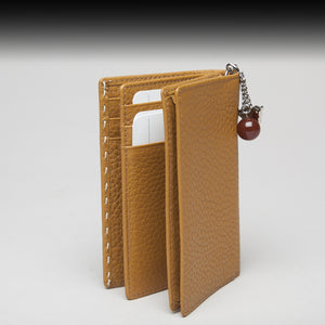 Beige German Leather Wallet by Braun Büffel