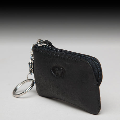 Key Chain Matt Leather Braun Büffel