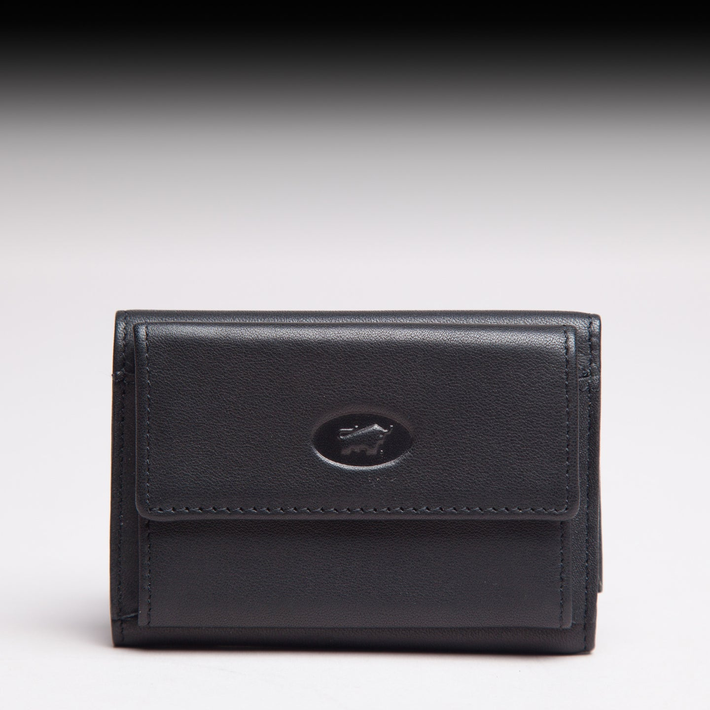 Braun Büffel Black German Leather small wallet