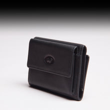Braun Büffel Black Leather small wallet