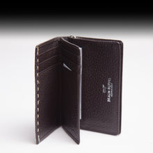 Braun Büffel Brown Leather Wallet with Semi-precious gemstone,