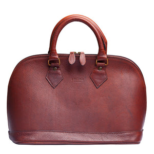 I Medici 2500 Italian Brown Leather Handbag