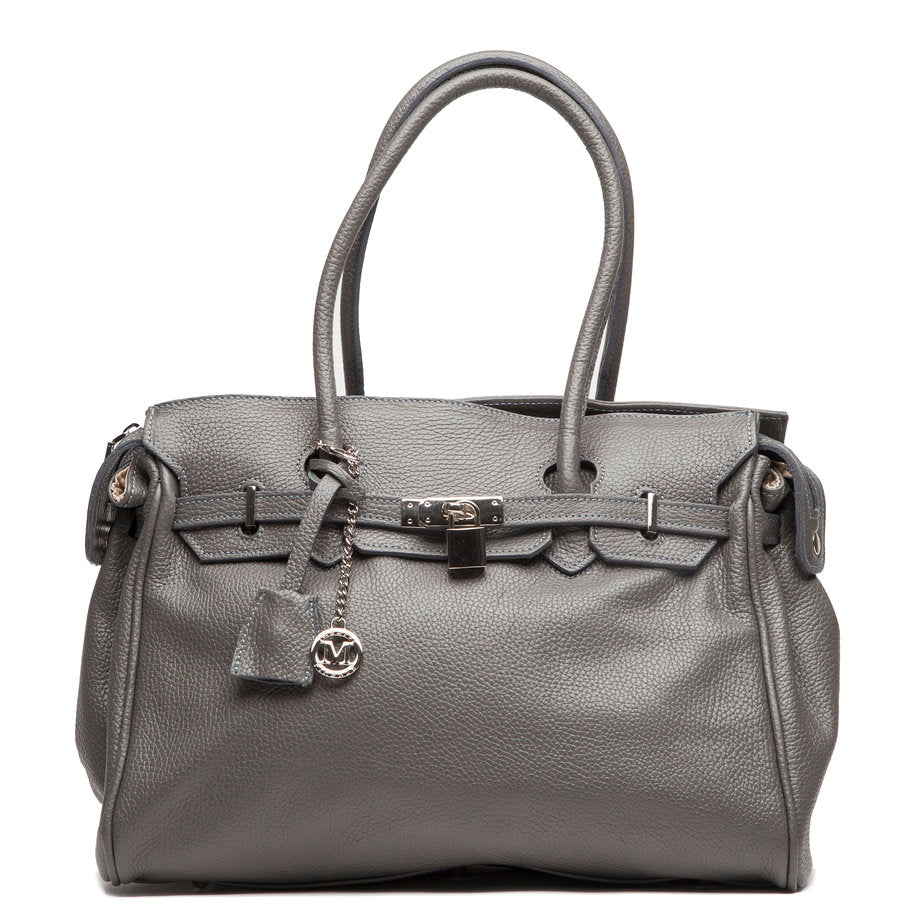 Italian grey leather Handbags I Medici