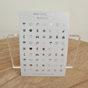 ASSORTED ICONS | Sticker Set (Grey with Silver Foil) (limited edn)