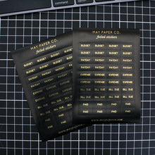Load image into Gallery viewer, FINANCE | Sticker Set (Black with Gold Foil)