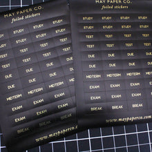 Load image into Gallery viewer, STUDY | Sticker Set (Black with Gold Foil)