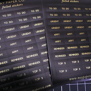 ESSENTIAL | Sticker Set (Black with Gold Foil)