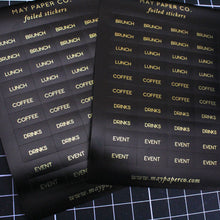 Load image into Gallery viewer, SOCIALITE | Sticker Set (Black with Gold Foil)