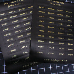 SOCIALITE | Sticker Set (Black with Gold Foil)