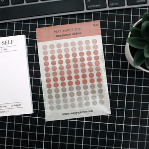 Teeny Tiny Dots | Transparent Stickers TS-01