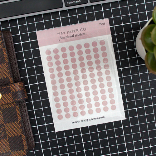 Teeny Tiny Dots | Transparent Stickers | Dusty Rose