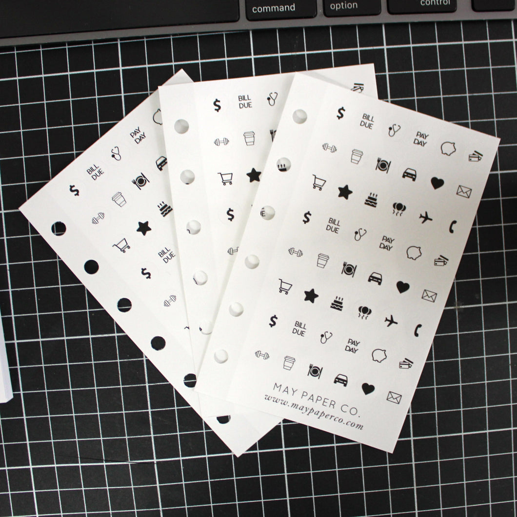 Assorted Icons Grey | Sticker Insert