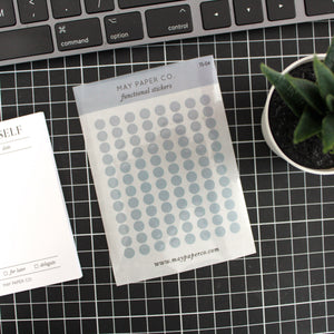 Teeny Tiny Dots | Transparent Stickers | Cloudy Blue