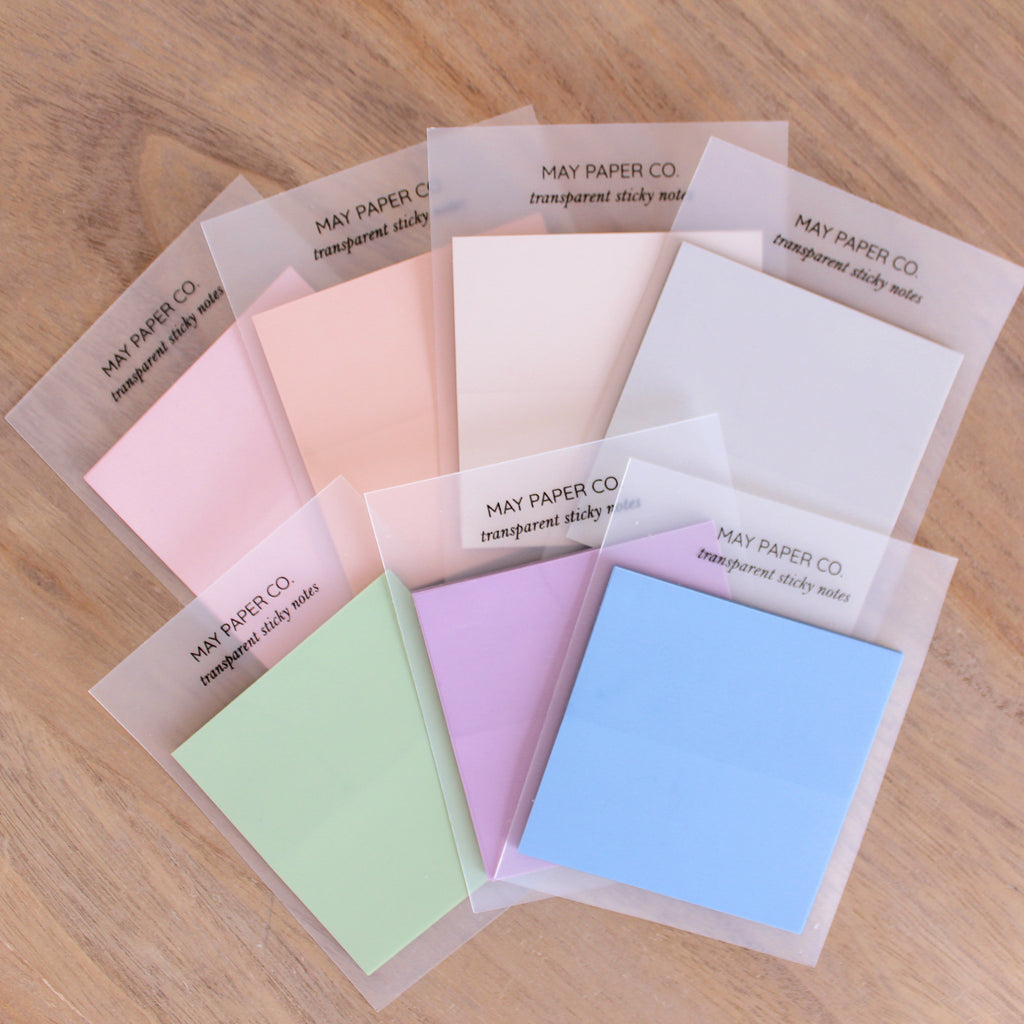 3x3 Transparent Sticky Note | Ube