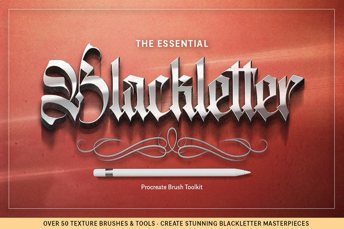 The Essential Blackletter Procreate Brush Toolkit