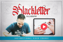 Load image into Gallery viewer, Video: Modern Blackletter Tutorial (Workshop Replay)