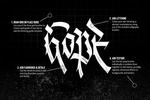 SALE! The Essential Blackletter Procreate Brush Toolkit