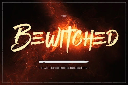 The Bewitched Blackletter Brush Collection