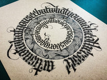 Load image into Gallery viewer, gothic-calligraphy-blackletter-art-circle