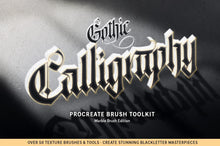 Load image into Gallery viewer, SALE! The Ultimate Gothic Calligraphy Marble Procreate Brush Toolkit