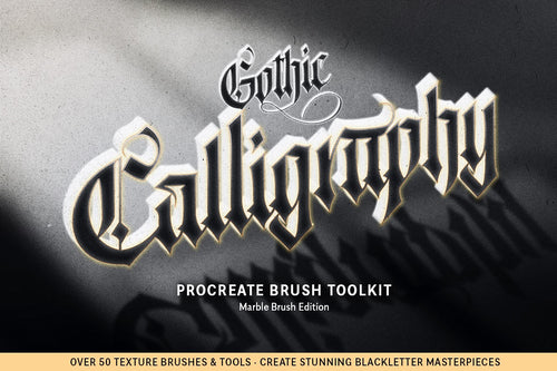 The Ultimate Gothic Calligraphy Marble Procreate Brush Toolkit