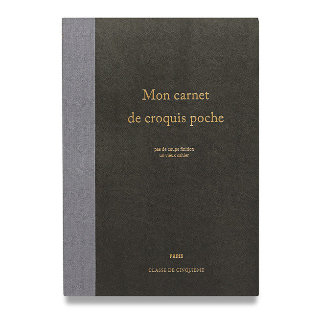 Large Black French Notebook