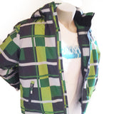 Plaid Checker Ski Jacket