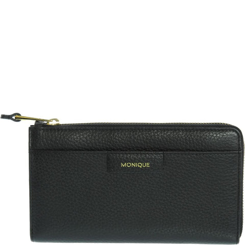Aubrey Leather Wristlet Purse