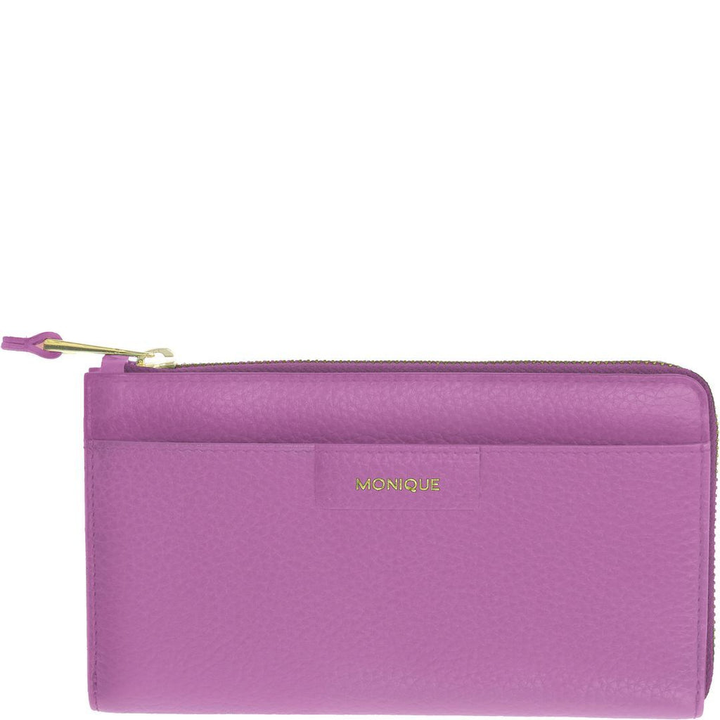 Gloria Leather Zip Around Wallet